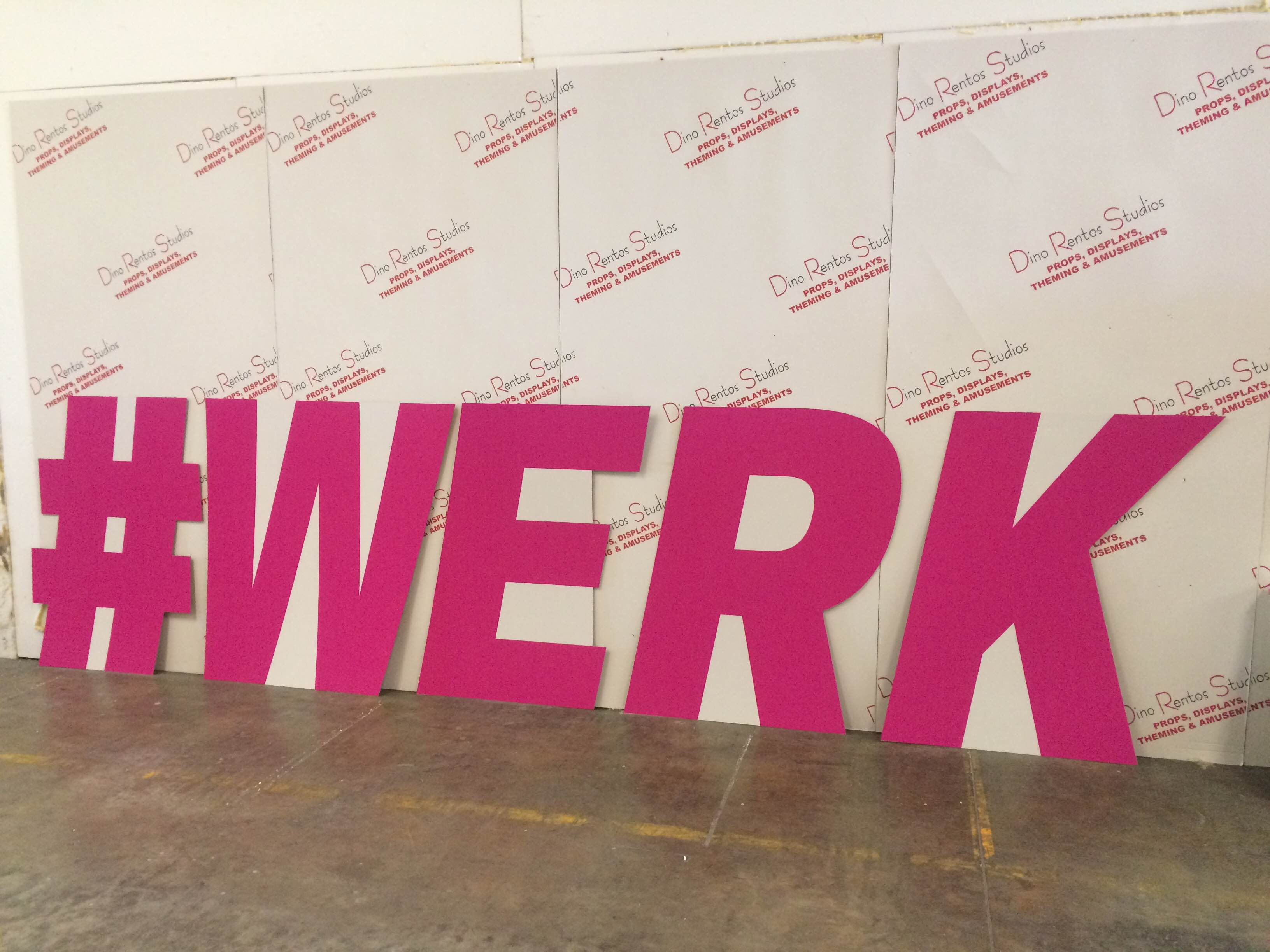 custom cardboard standup cutout letters for your Twitter Hashtag for corporate events