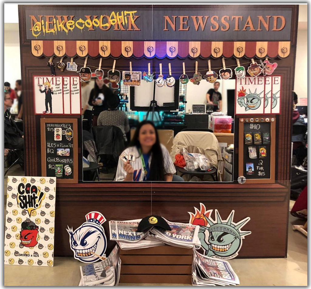 Newsstand Cardboard Cutout Standup for tradeshows and events