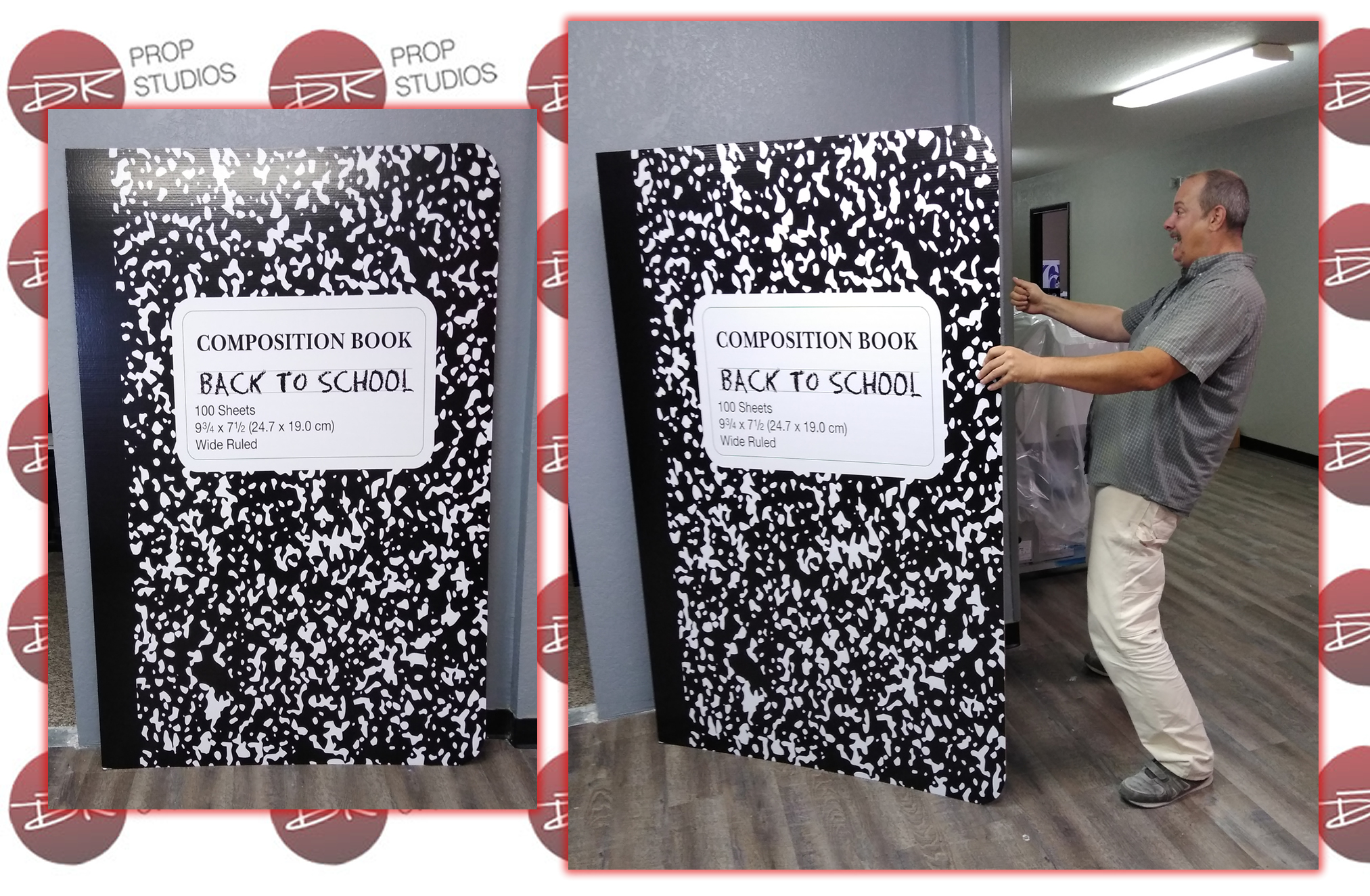 Back To School Composition Notebook Cardboard Standup Prop Display