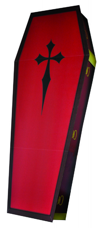 3D Coffin - Halloween Cardboard Cutout Standup Prop