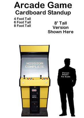 Arcade Game Cardboard Cutout Standup Prop