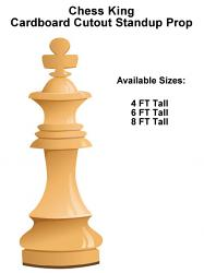 Chess King Wood Cardboard Cutout Standup Prop
