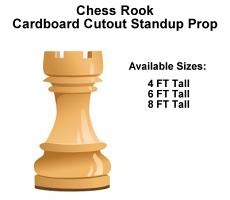 Chess Rook Wood Cardboard Cutout Standup Prop