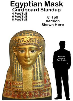 Egyptian Mask Cardboard Cutout Standup Prop
