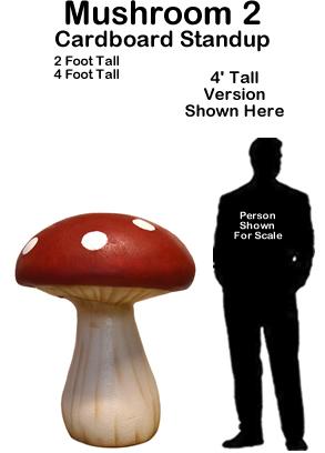 Mushroom 2 Cardboard Cutout Standup Prop