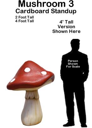 Mushroom 3 Cardboard Cutout Standup Prop