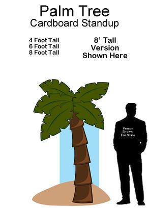 Palm Tree Cardboard Cutout Standup Prop
