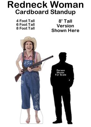Redneck Woman Cardboard Cutout Standup Prop