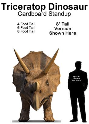 Triceratops Dinosaur Cardboard Cutout Standup Prop