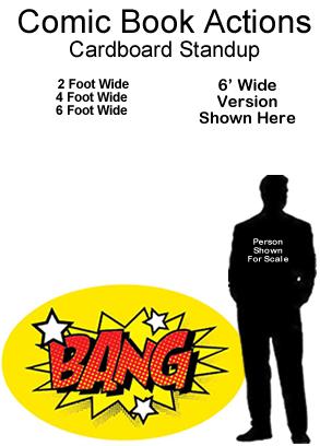 Comic Book Actions Cardboard Cutout Standup Prop