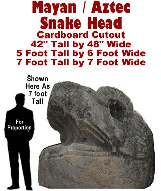 Mayan - Aztec Snake Head Cardboard Cutout Standup Prop