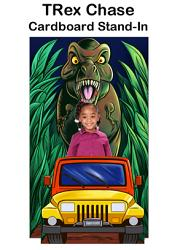 TRex Chase Cardboard Stand-In