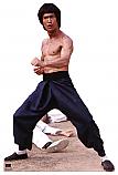 Bruce Lee Fight Stance - Bruce Lee Cardboard Cutout Standup Prop