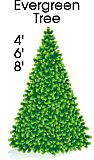 Evergreen Tree Cardboard Cutout Standup Prop