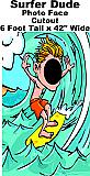 Surfer Dude Photo Face Cardboard Prop