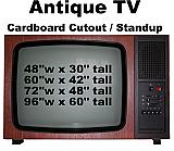 Antique TV Cardboard Cutout Standup Prop