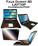 3D Cardboard Fake-Faux-Dummy-Laptop Prop