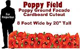 Poppy Field Cardboard Cutout Standup Prop