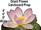 Giant Flower Cardboard Cutout Standup Prop