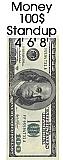 Big Money Bill Cardboard Cutout Standup Prop