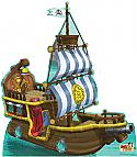 Bucky Pirate Ship - Jake and the Neverland Pirates Cardboard Cutout Standup Prop