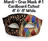 Mardi Gras Mask 1 Cardboard Cutout Standup Prop