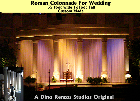 Custom Made Arches and Columns for weddings and more